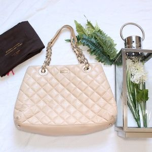 Kate Spade Quilted Gold Coast Maryanne Tote Bag